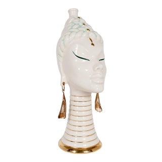 Mid Century Asian Queen Sculptural Bottle For Sale