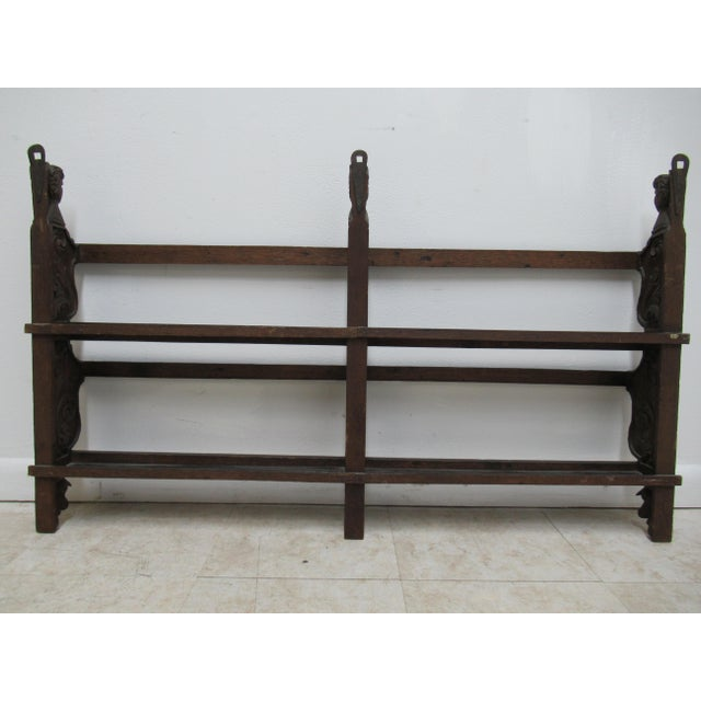 Italian Figural Carved Hand Plate Rack For Sale - Image 11 of 12
