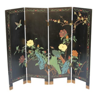 Asian Hand Made Artist Embellished Petite Screen For Sale