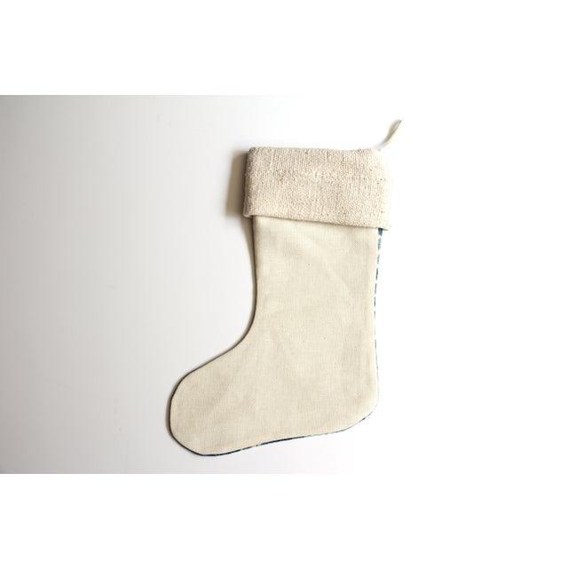 Vintage Indigo & Mud Cloth Christmas Stocking - Image 3 of 4