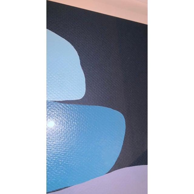 Stephanie Henderson Cairn in Moody Blues Original Painting For Sale In Atlanta - Image 6 of 9