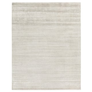 Exquisite Rugs Creil Hand loom Bamboo/Silk Brown Rug-12'x15' For Sale