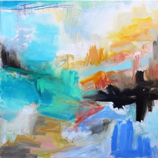 """Into the Mystic"" by Trixie Pitts Large Abstract Oil Painting For Sale"