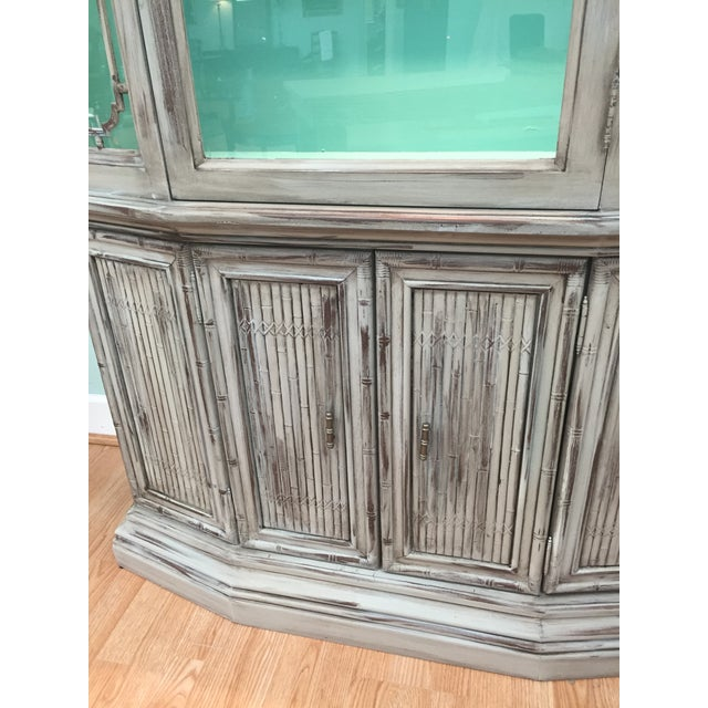 Gray Mid-Century China Cabinet Hutch - Image 8 of 11