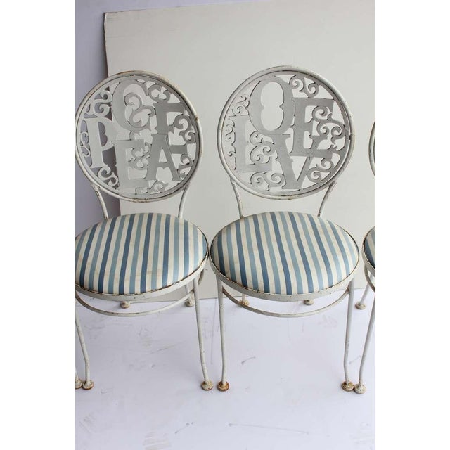 Mid-Century Modern 1960's Vintage Woodard Garden Chairs- Set of 4 For Sale - Image 3 of 4