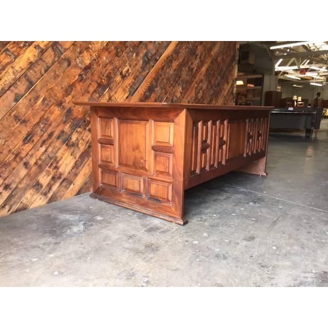 1970's Monteverdi Young Walnut Executive Desk - Image 6 of 9