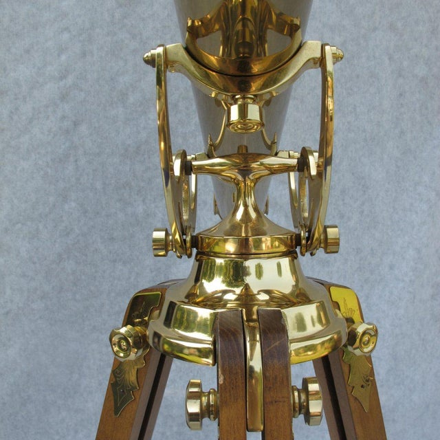 """This rare and absolutely stunning Bausch & Lomb Harbormaster 50"""" solid brass telescope is a piece of sculpture as much as..."""
