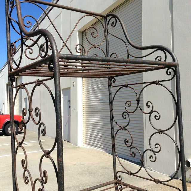 Scrolling Iron Etagere For Sale - Image 5 of 11