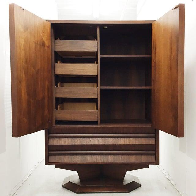 Mid-Century Wood Wardrobe/Armoire - Image 4 of 5