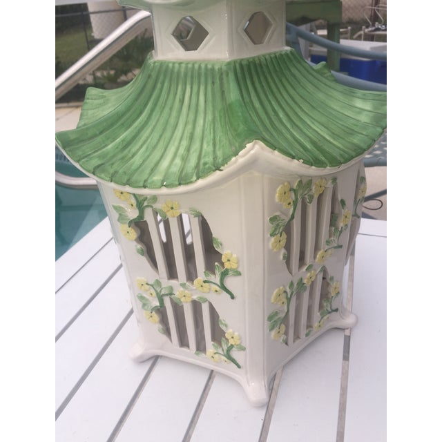 Italian Ceramic Pagoda Birdhouse - Image 5 of 8