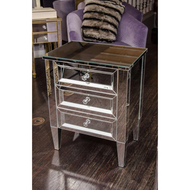 Custom Mirrored End Table For Sale In New York - Image 6 of 6