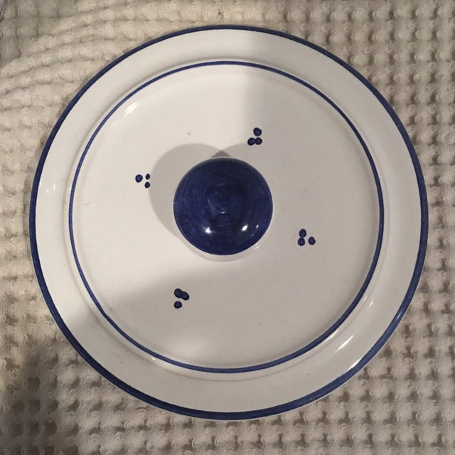 Blue & White Ceramic Canister - Image 6 of 6