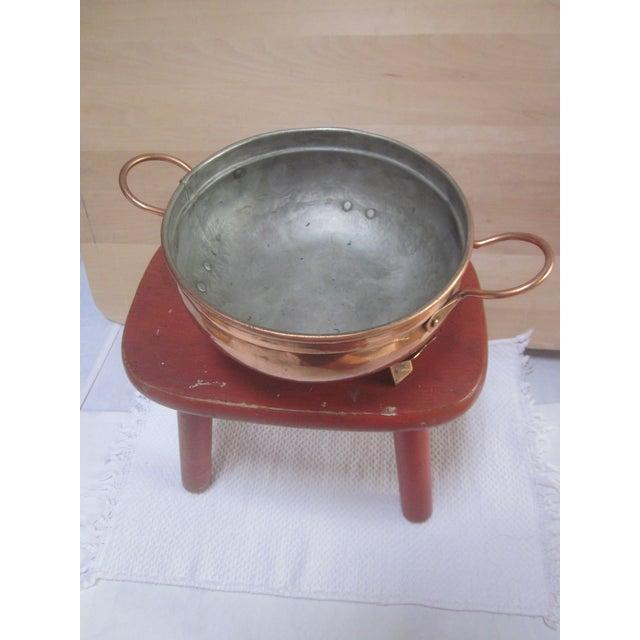 Copper Pot Set Hammered Copper & Brass Pots & Pans - Set of 4 - Image 9 of 10