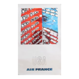 1971 Air France Poster, Usa For Sale