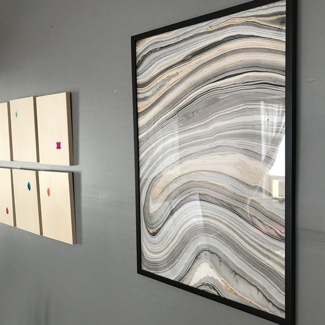 Framed Hydro-Dipped Abstract For Sale - Image 4 of 7
