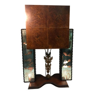 AMAZING AND DRAMATIC ILLUMINATED SEA CREATURES ITALIAN ART DECO BAR For Sale