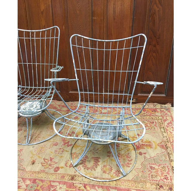 Modern 1960s Vintage Homecrest Mid Century Modern Iron Patio Chairs-a Pair For Sale - Image 3 of 8