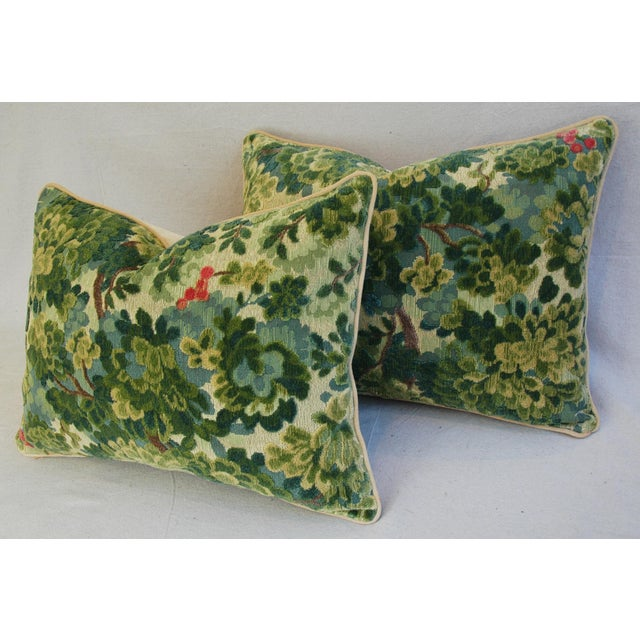 Custom-Tailored Scalamandre Velvet Marly Pillows - Pair - Image 9 of 11