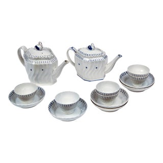 English Pearlware Tea Set, Early 19th Century For Sale
