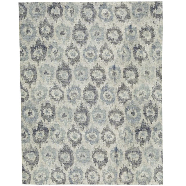Contemporary Hand Made Rug - 9' x 12' For Sale