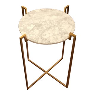 Worlds Away Abel Gold Side Table For Sale