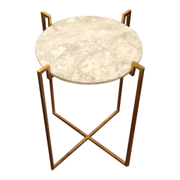Worlds Away Abel Gold Side Table - Image 1 of 6