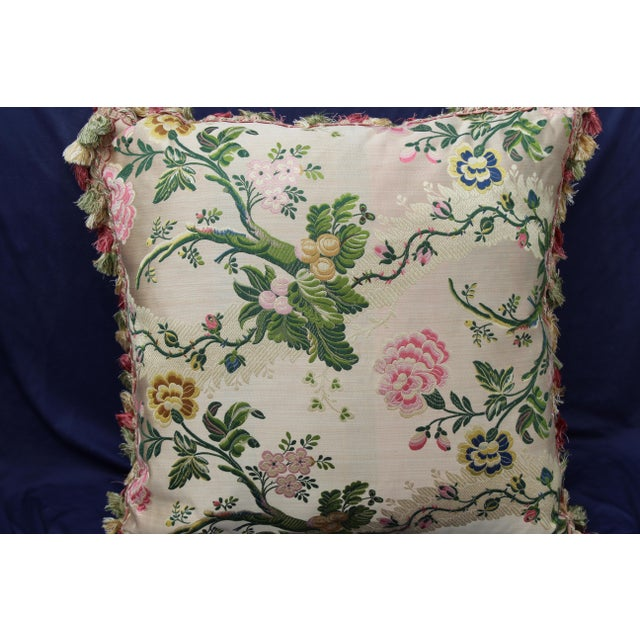 This is an Italian silk velvet scalamandre pillow. From the late 20th c.
