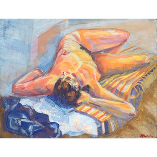 Nude Reclining Woman Figurative For Sale