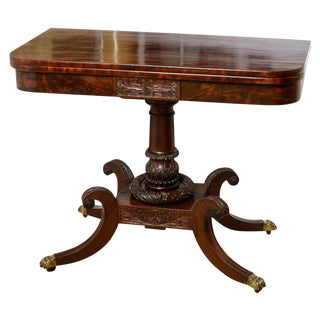 American Mahogany Fold Over Table For Sale