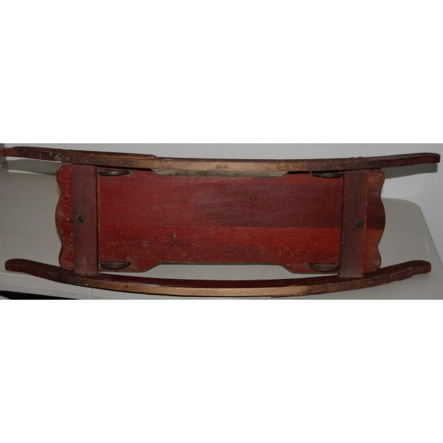 19th Century American Folk Art Rocking Horse For Sale - Image 9 of 11