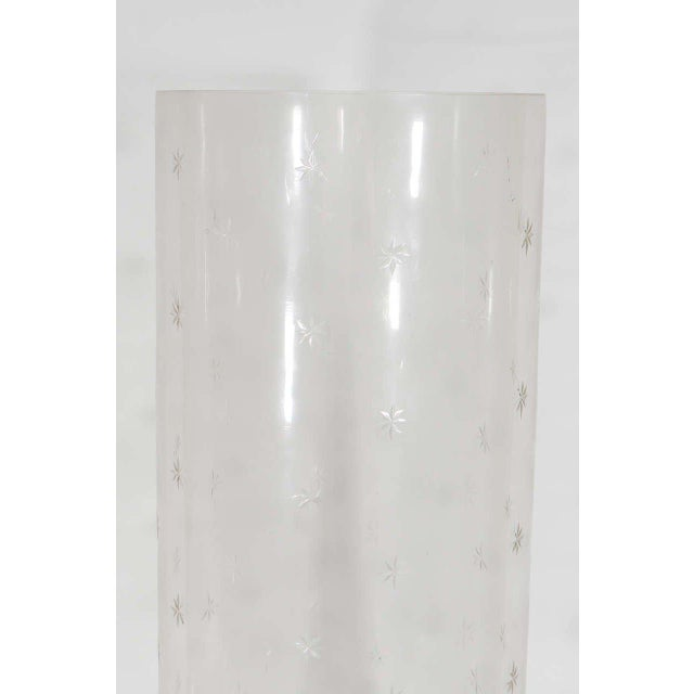 Early 20th Century Pair of Tall Glass Hurricanes For Sale - Image 5 of 8