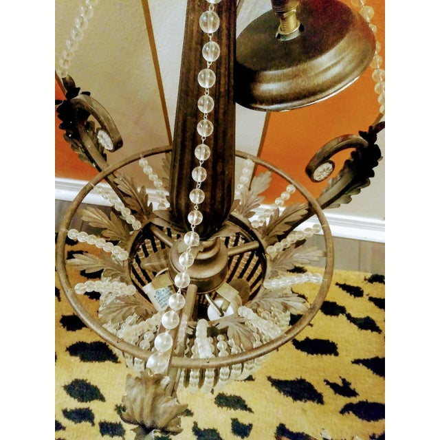 A Pair Massive Beaded French Style Crystal Hanging Chandeliers Cristol De Lisbon For Sale In West Palm - Image 6 of 8