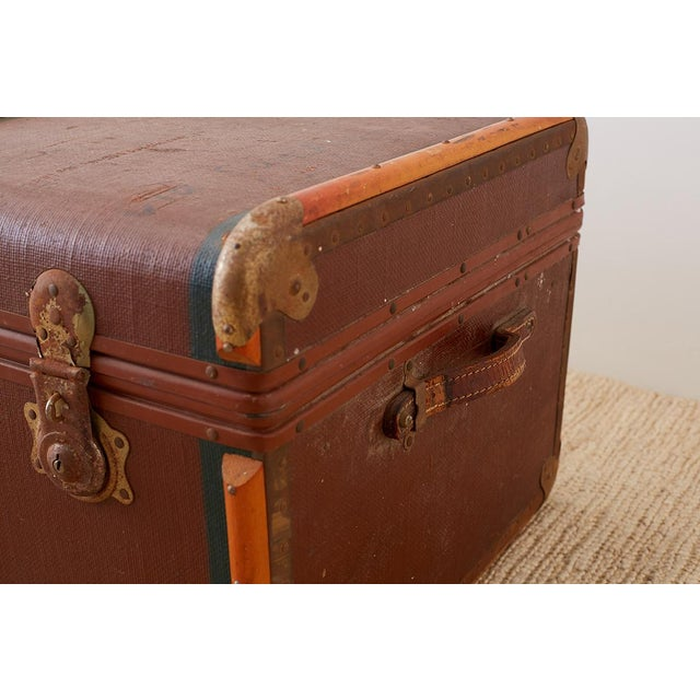 Early 20th Century Early 20th Century Painted Steamer Travel Trunk For Sale - Image 5 of 13