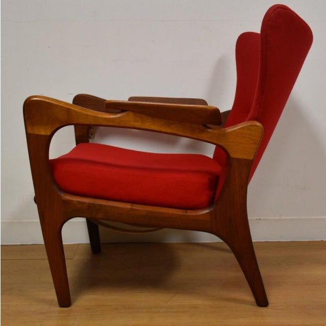 Walnut Adrian Pearsall Wing Back Lounge Chair For Sale - Image 7 of 11