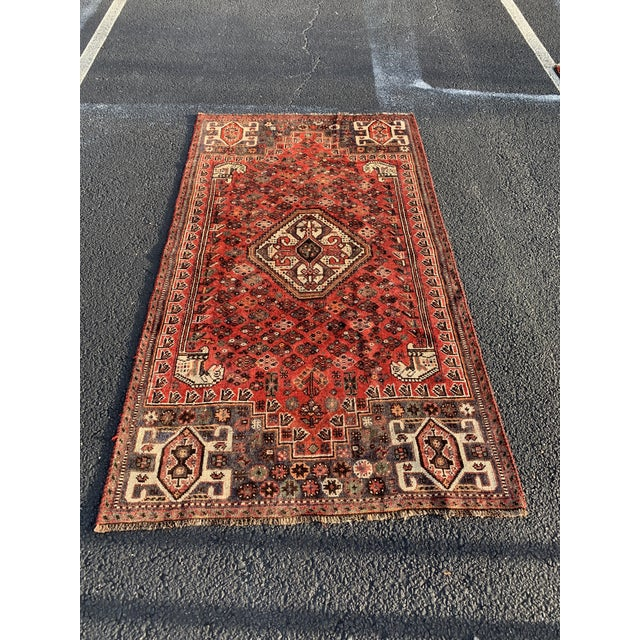 1940s Vintage Persian Qasghi Rug - 5′1″ × 7′10″ For Sale - Image 13 of 13