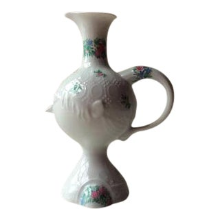 1950s Abstract Expressionism Bjorn Wiinblad for Rosenthal Porcelain Face Pitcher For Sale