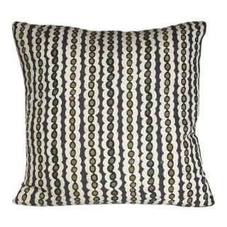 Kim Salmela Olive Stripe Pillow For Sale