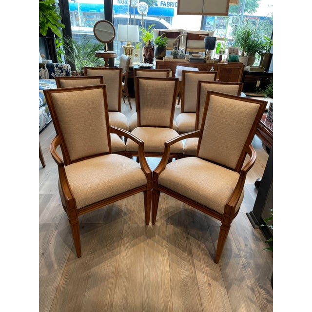 Set of 8 Traditional Louis Oak Dining Chairs For Sale - Image 11 of 11