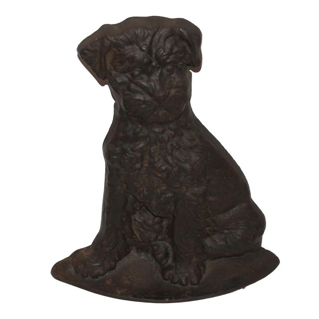 Monumental 19Thc Cast Iron Dog - Image 1 of 6