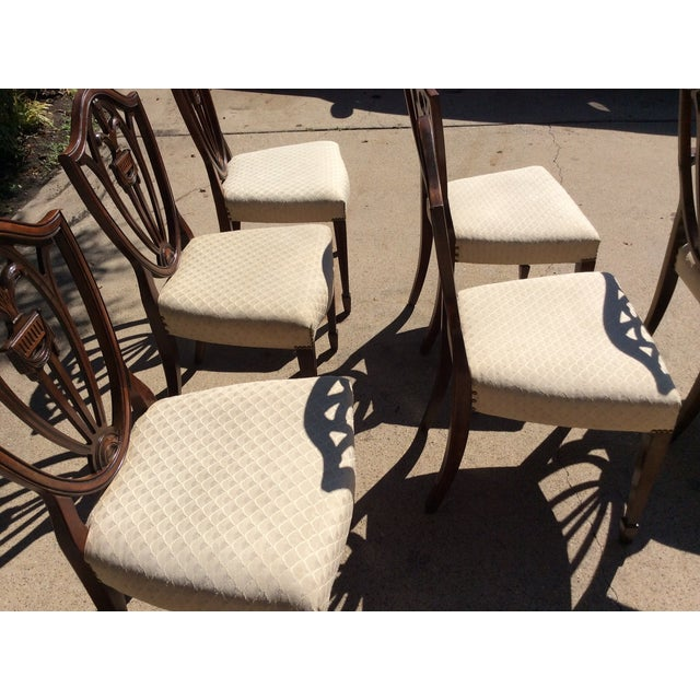 Hepplewhite Mahogany Shield Back Dining Chairs-S/6 - Image 10 of 10