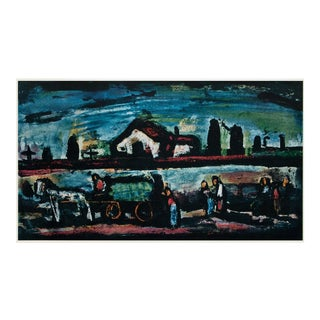 """1950s Georges Rouault """"Evening Landscape"""" First Edition Period Expressionist Lithograph For Sale"""