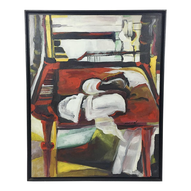 Deon Robertson Framed Still Life Oil on Canvas Painting - Image 1 of 7