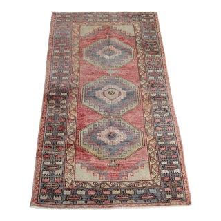 1960s Vintage Tribal Turkish Floor Rug For Sale