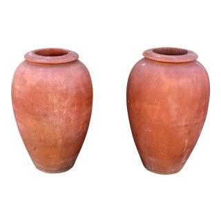 Italian Terra Cotta Oil Jars - A Pair