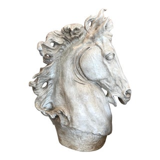 Museum Reproduction Waxed & Patinated Large Horse Head For Sale