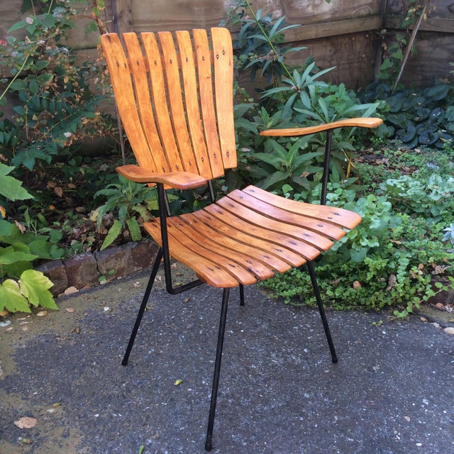 1950s Vintage Umanoff Slat Dining Chairs- Set of 6 For Sale In San Francisco - Image 6 of 13