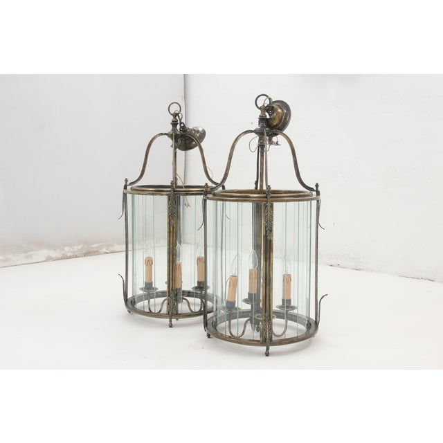 Art Nouveau Lanterns - A Pair - Image 3 of 8