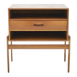 Arne Vodder Teak Nightstand Side Table Denmark, 1960s For Sale