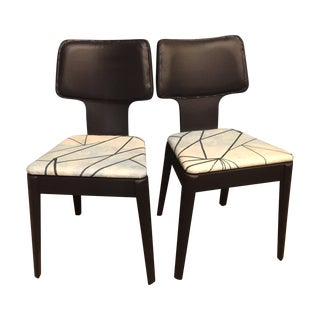 Black Mid-Century Bentwood Chairs - Pair