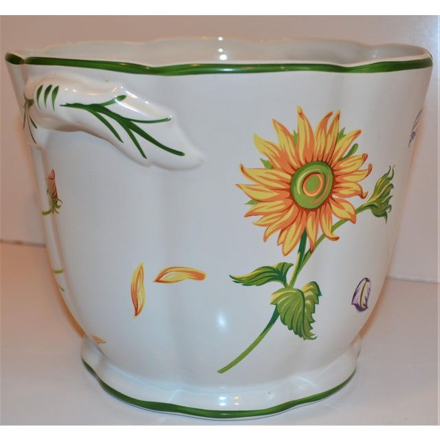 "Ceramic Vintage Tiffany & Company ""Petals"" Cachepot For Sale - Image 7 of 13"